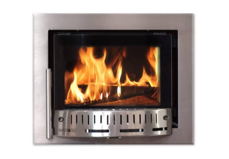 Ofentür mit automatischer Abbrandregelung und Ofensteuerung